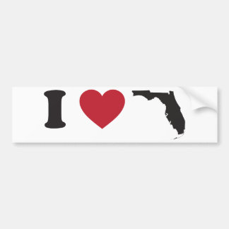 I Love Florida Bumper Stickers