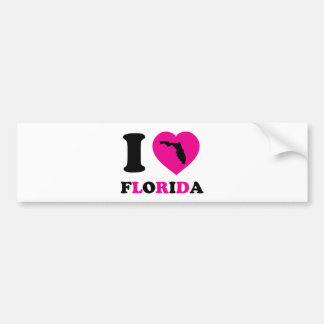 I Love Florida Bumper Sticker