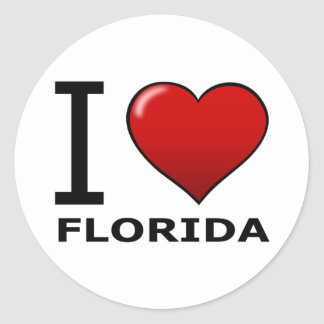 I LOVE FLORIDA CLASSIC ROUND STICKER