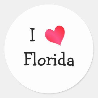 I Love Florida Classic Round Sticker