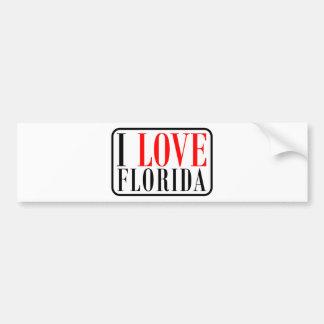 I Love Florida Design Bumper Sticker