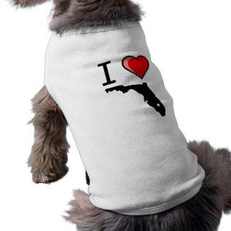 I Love Florida Dog Shirt