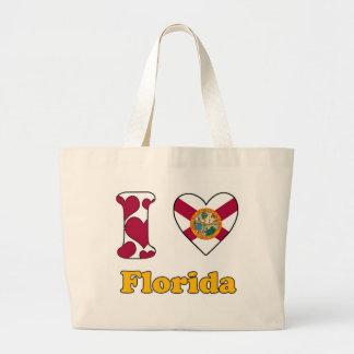 I love Florida Large Tote Bag