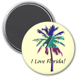 I Love Florida! 7.5 Cm Round Magnet