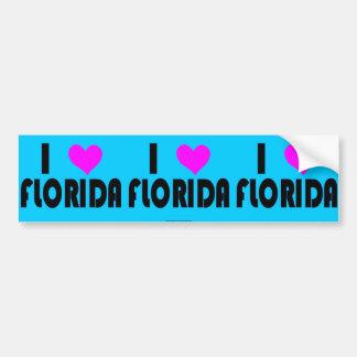 I Love Florida USA bumper sticker