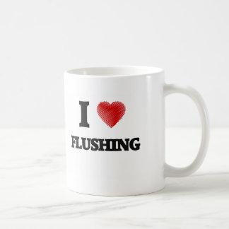 I love Flushing Basic White Mug