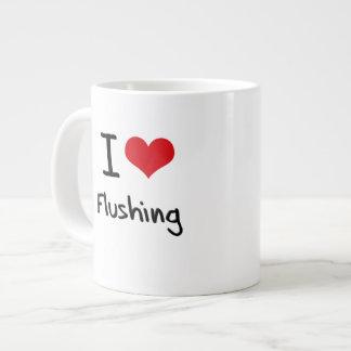 I Love Flushing 20 Oz Large Ceramic Coffee Mug