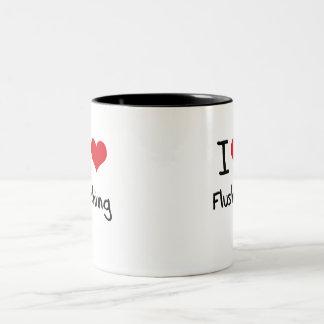 I Love Flushing Two-Tone Coffee Mug