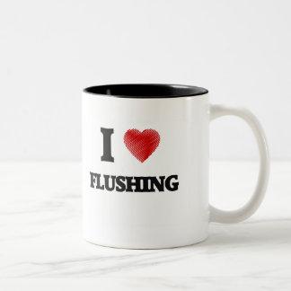 I love Flushing Two-Tone Mug