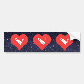 I Love Flute Sheet Music Design Bumper Sticker