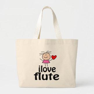 I Love Flute Tote Bag