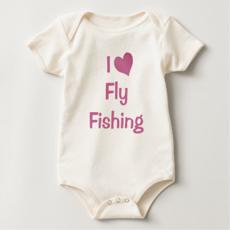 I Love Fly Fishing Baby Bodysuit