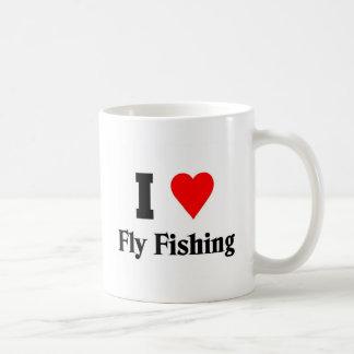 I love Fly Fishing Basic White Mug