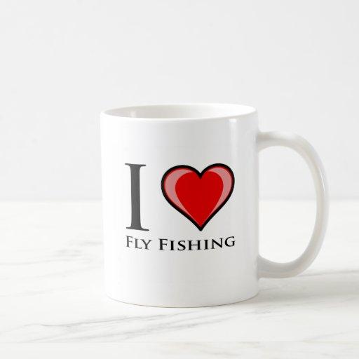I Love Fly Fishing Coffee Mugs