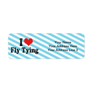 I Love Fly Tying Return Address Label