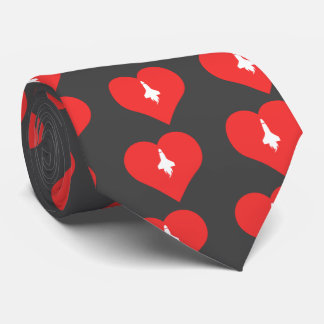 I Love Flying Rockets Icon Tie