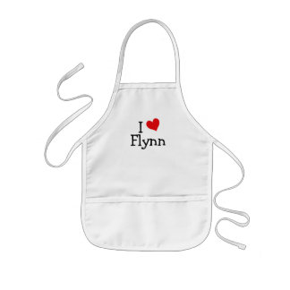 I Love Flynn Kids Apron