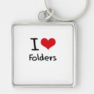 I Love Folders Key Chains