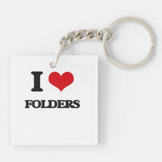 i LOVE fOLDERS Acrylic Keychains