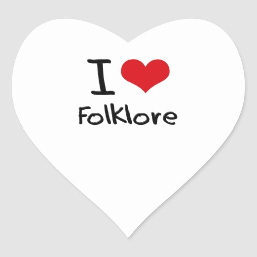 I Love Folklore Stickers