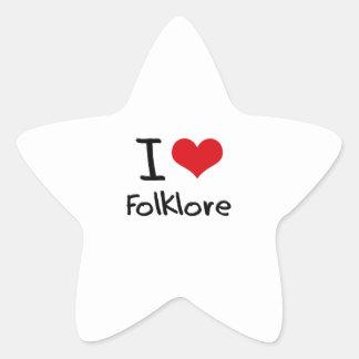 I Love Folklore Star Sticker