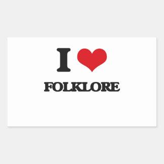 i LOVE fOLKLORE Rectangular Sticker