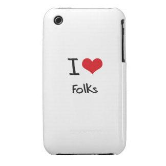 I Love Folks iPhone 3 Case-Mate Case