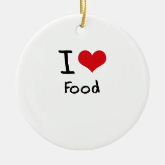I Love Food Christmas Ornament