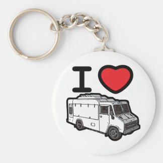 I Love Food Trucks! Key Ring