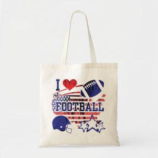 I Love Football (American Football) Tote Bag