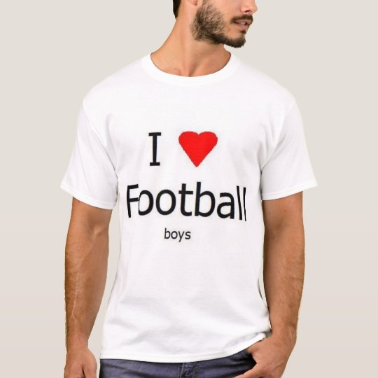 I love Football - boys. T-Shirt
