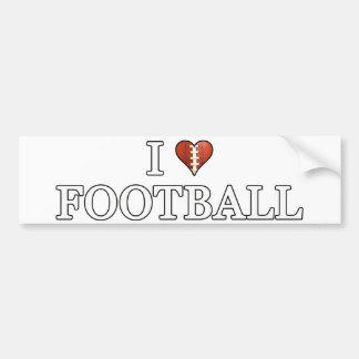 I Love Football Bumper Sticker