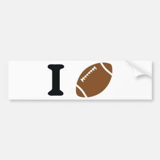 i love football bumper sticker