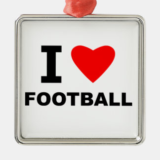 I Love Football Christmas Ornament