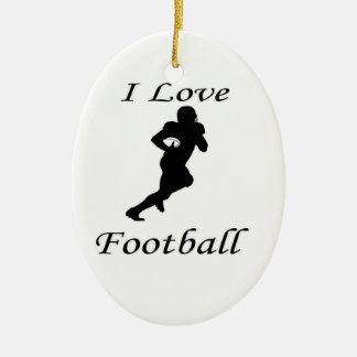 I Love Football Christmas Ornament