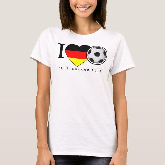 I Love football Germany 2010 football T-Shirt