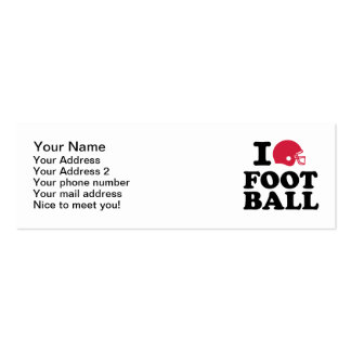 I love Football helmet Double-Sided Mini Business Cards (Pack Of 20)