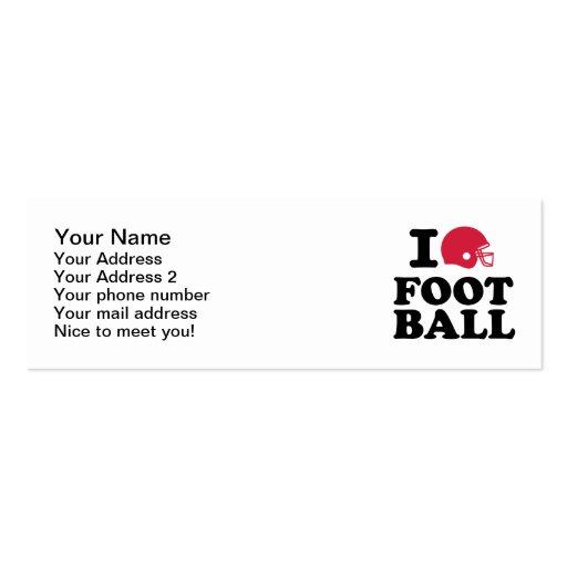 I love Football helmet Business Card Template
