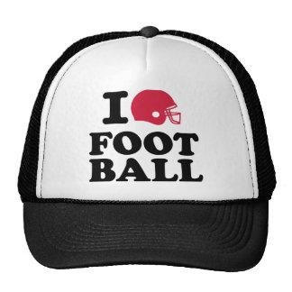 I love Football helmet Trucker Hat