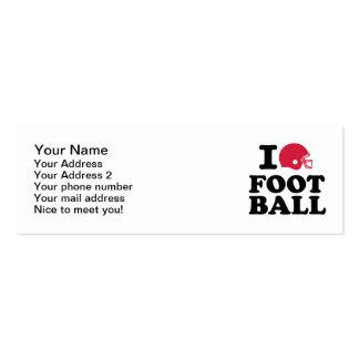 I love Football helmet Pack Of Skinny Business Cards