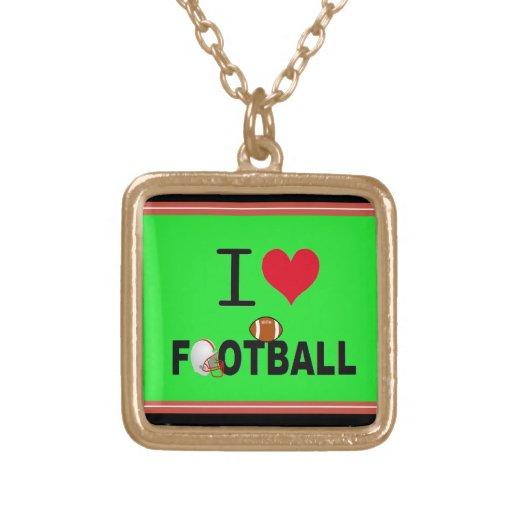 I LOVE FOOTBALL JEWELRY
