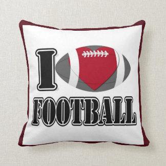 I Love Football Pillow