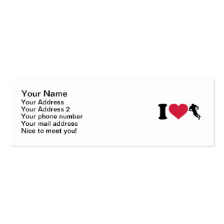 I love Football player Double-Sided Mini Business Cards (Pack Of 20)