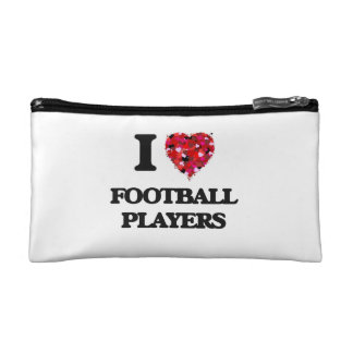 I love Football Players Cosmetic Bag