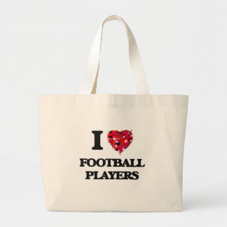 I love Football Players Jumbo Tote Bag