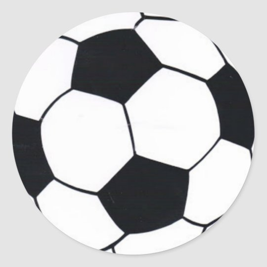 I LOVE FOOTBALL (SOCCER) CLASSIC ROUND STICKER
