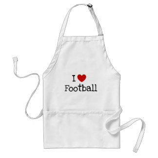 I love football standard apron