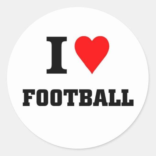 i LOVE FOOTBALL Sticker
