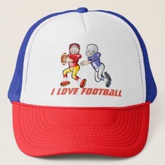 I Love Football Trucker Hat