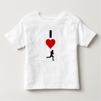 I Love Football (Vertical) Toddler T-Shirt